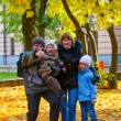Royalty-Free Stock Photo: Family in autumn park