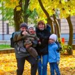 familia en el parque otoño — Foto de Stock   #4634573
