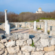 Evening Chersonesos (ancient town) — Stock Photo