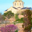 Evening St Vladimir's Cathedral church (Chersonesos, Sevastopol, — Stock Photo