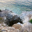 Summer rocky coast - Stock Photo