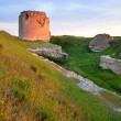 Crimean ancient fortress sunset view (Ukraine) — Stock Photo