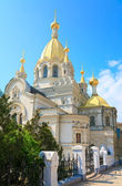 Pokrovskij Cathedral in Sevastopol (Crimea, Ukraine). — 图库照片