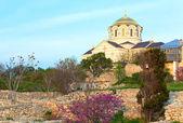 Evening St Vladimir's Cathedral church (Chersonesos, Sevastopol, — Stock Photo