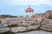 夕方ケルソネソスの遺跡 (古代の町) — ストック写真