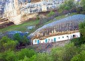 Environs of Chufut Kale ancient cave settlement (Crimea, Ukraine — Stock Photo