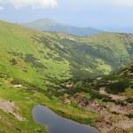 Alpine lake Brebeneckul on summer mountains — Stock Photo #4652387
