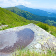 Foto Stock: Puddle on mountain stone