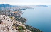 Côte rocheuse de l'été (Soudak ville, Crimée, ukraine) — Photo