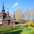 Wood church — Stockfoto