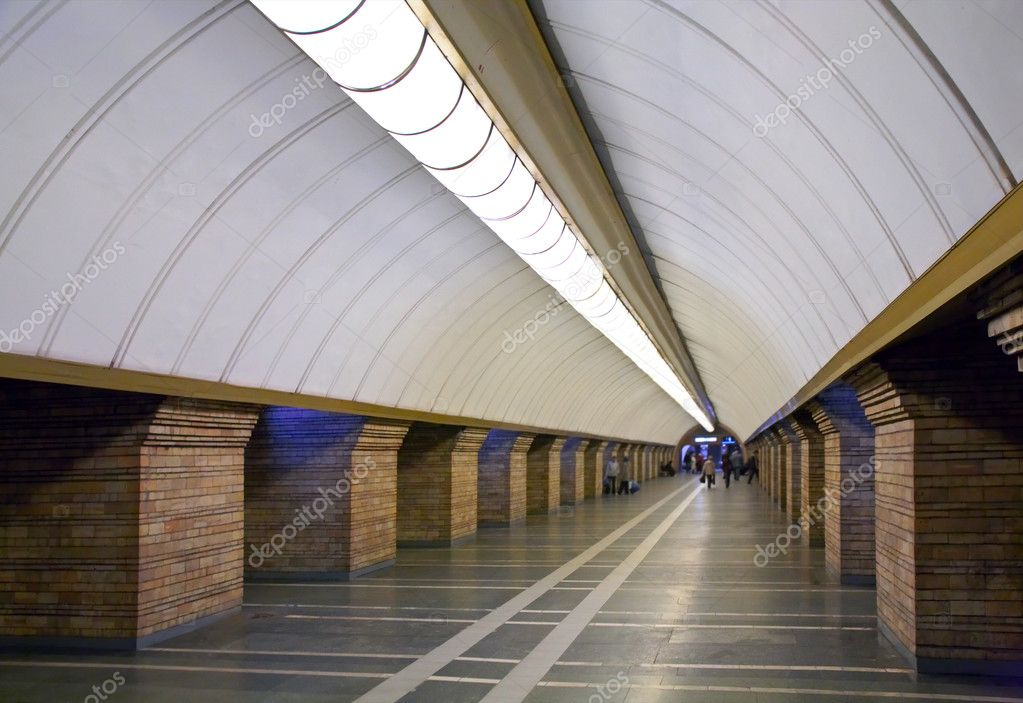 Interior of the subway station in Kyiv — Stock Photo #4665830