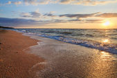 Sea sunset surf wave — Stock Photo