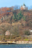 Autumn mountain country landscape (Carpathian, Ukraine). — Stock Photo