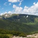 Stony figure on mountain ridge — Stock Photo #5044719