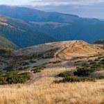 Autumn mountain panorama. — Stock Photo