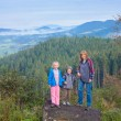 Family in mountain — Stock Photo
