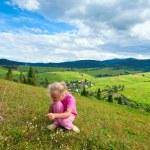 Girl in a mountain walk — Stock Photo #5045110