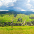 Stock Photo: Summer mountain country panorama.