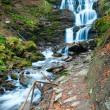 Waterfalls on Rocky Autumn Stream — Foto Stock