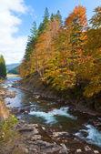 Rocky podzimní řeka — Stock fotografie