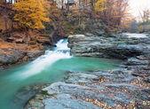 Waterfalls on Rocky Autumn Stream — Stock Photo