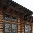 Fragment of country wooden house — Stock Photo #5142417