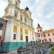 Former Jesuit College in Kremenets town (Ukraine). - Stock Photo