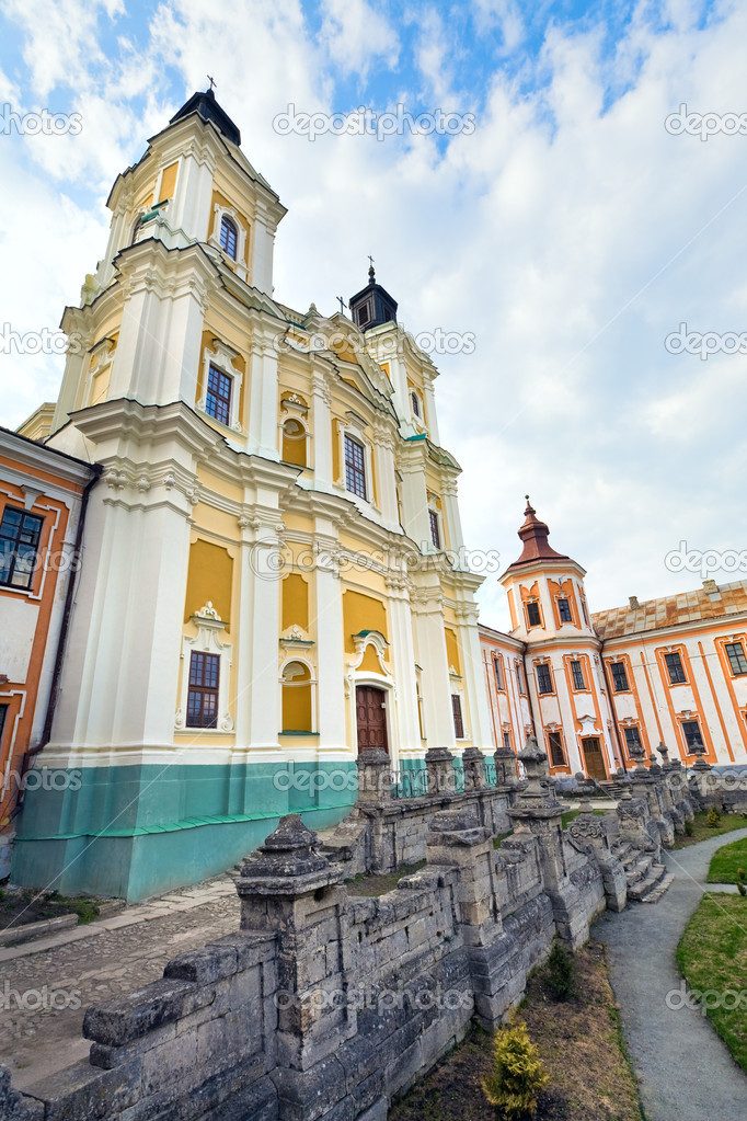 Former Jesuit College Complex in Kremenets town (Ternopil region, Ukraine). Built in 1731-1743, architect - Paolo Fontana . — Foto Stock #5348879