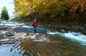 Rocky Autumn River — Stock Photo