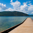 Dock, Priest Lake — Stock Photo