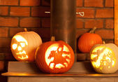 Carved Pumpkins — Stockfoto