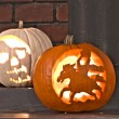 Carved Pumpkins — Stock Photo