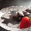 Stock Photo: Strawberry and chocolate