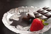 Strawberry and chocolate — Stock Photo