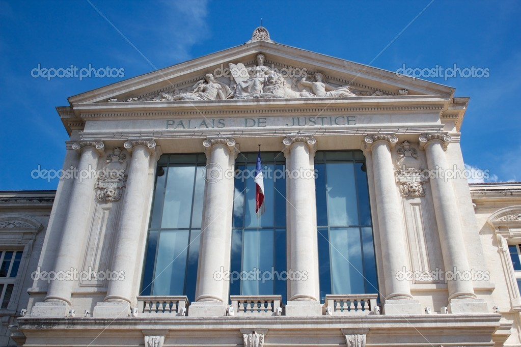 Palais de Justice in Nice, France. — Stock Photo #4434750