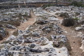 Clapham Junction in Malta - cart ruts in - the mysterious site — Stock Photo