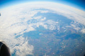 A globe seen from above — Stock Photo