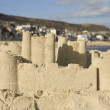 Stock Photo: Sandcastle at seaside town