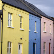 Pastel housefronts — Stock Photo