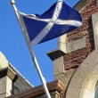 Scotland flag on old building — Stock Photo