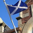Royalty-Free Stock Photo: Scotland flag on old building