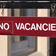 Stock Photo: No vacancies