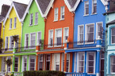 Brightly coloured houses — Stock Photo