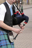 Bagpipe player — Stock Photo