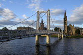 Brug over de ness in inverness, Schotland — Stockfoto