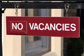 No vacancies — Stock Photo