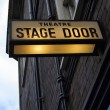 Stock Photo: Theater stage door