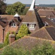Kent oast houses and rooftops - Stock Photo