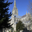 Stock Photo: Salisbury Cathedral on summers day