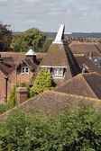 Kent oast houses and rooftops — Stock Photo